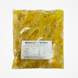 Pulpa de Maracuya con pepa Congelada 1kg