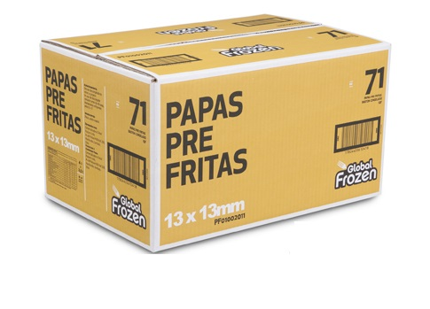 Papa PreFrita  CAJA 13×13 Global Frozzen 2,5K