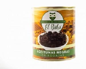 Aceitunas negras en rodajas El Buho 3100g